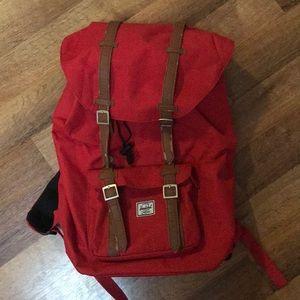 Herschel Supply Red Retreat backpack.